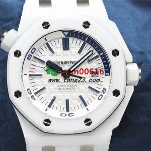 夏天必备潜水表JF厂爱彼AP15707白陶瓷腕表