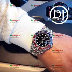 评测:DJ厂V2版本劳力士3186机芯格林尼治红蓝可乐圈腕表